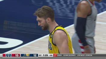 NBA, la tripla doppia di Domantas Sabonis contro Washington