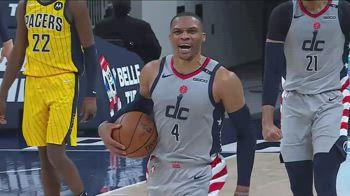 NBA, la tripla doppia di Russell Westbrook contro Indiana