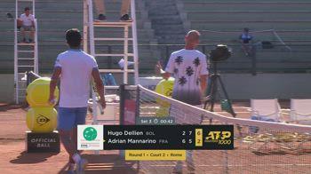internazionali roma tennis dellien mannarino match point