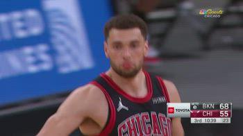 NBA, 41 punti per Zach LaVine contro Brooklyn