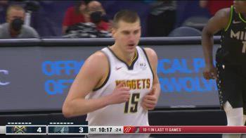 NBA, i 31 punti di Nikola Jokic contro Minnesota