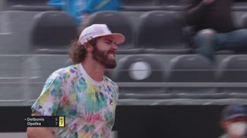internazionali tennis roma opelka delbonis highlights