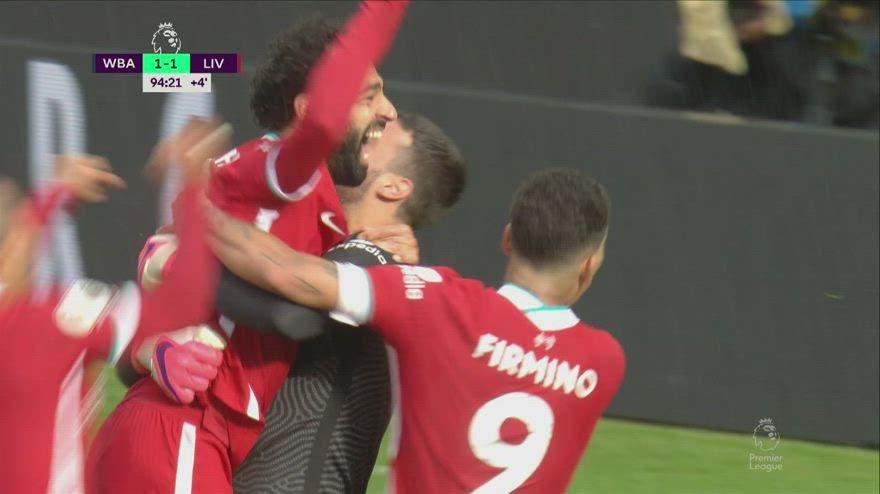 Wba-Liverpool, Alisson nel recupero segna di testa