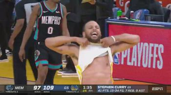 NBA, Steph Curry segna la tripla decisiva contro Memphis