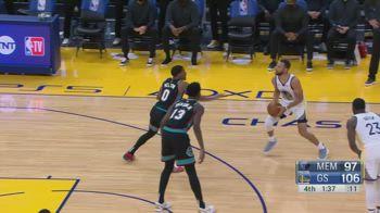 NBA, i 46 punti di Steph Curry contro Memphis