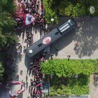 milan tifosi milanello video drone