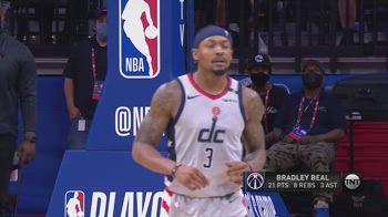 NBA, i 33 punti di Bradley Beal in gara-1 con i Sixers