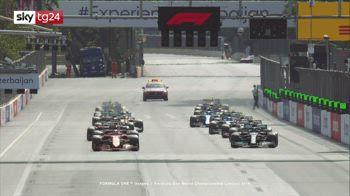 Formula 1, Gp Azerbaigian: video e highights della gara