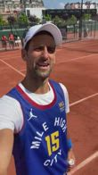 NBA, Djokovic fa il tifo per Jokic MVP