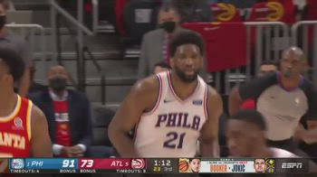 NBA, 27 punti per Joel Embiid in gara-3 vs Atlanta