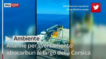 Allarme per sversamento idrocarburi al largo della Corsica