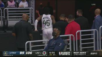 NBA, l'infortunio alla caviglia di Donovan Mitchell