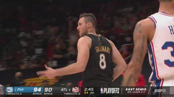 NBA, 16 punti per Gallinari contro Philadelphia in gara-6