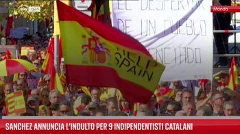 Sanchez annuncia l?indulto per 9 indipendentisti catalani