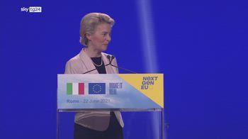 Recovery Fund, Von der Leyen: attuazione Piano Italia sar� dura