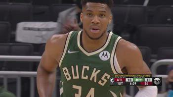 NBA, 34 punti di Antetokounmpo in gara-1 contro Atlanta