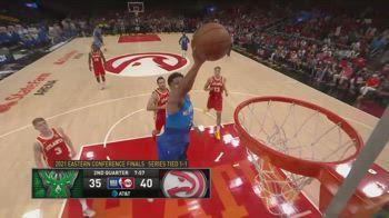 NBA, 33 punti di Antetokounmpo in gara-3 contro Atlanta
