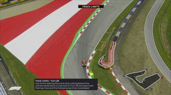 f1 canale 207 track limits gp austria ore 11.40