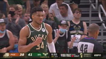 NBA Finals, 41 punti per Giannis Antetokounmpo in gara-3