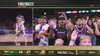 NBA, il tifoso conta i dollari con Antetokounmpo in lunetta