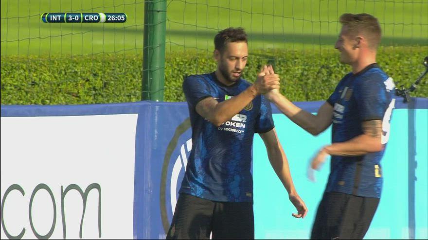Inter-Crotone 6-0 in amichevole: gol e highlights