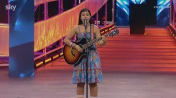 Raffaella Scagliola inaugura il palco di X Factor 2021