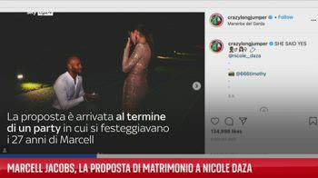 Marcell Jacobs, la proposta di matrimonio a Nicole Daza