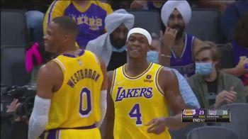 NBA: il passaggio di Rondo becca in testa Westbrook