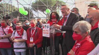 Sindacati in piazza, Landini: manifestazione per tutti non di parte