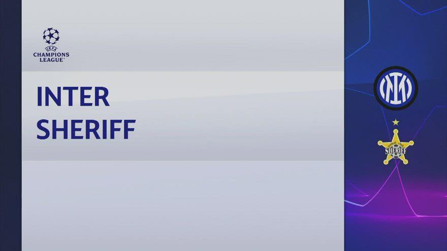 Inter-Sheriff Tiraspol 3-1: gol e highlights