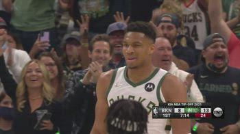 NBA, 32 punti per Giannis Antetokounmpo contro Brooklyn
