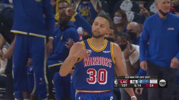 NBA, i 45 punti di Stephen Curry contro i Clippers