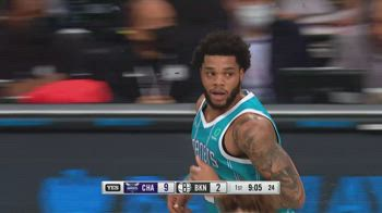 NBA, i 32 punti di Miles Bridges contro Brooklyn