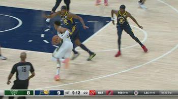 NBA, i 30 punti di Giannis Antetokounmpo contro Indiana